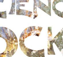 Cool Geeky Science Rocks Warm Earth Tone Granite Sticker