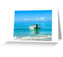 Emerald Reflection Greeting Card