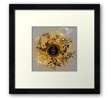 Music, decorative clef Framed Print