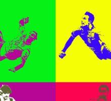Football and ballet = foot-ballet Sticker