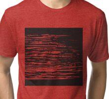 Modern White Cuts on Black Background Tri-blend T-Shirt