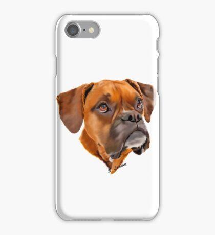 Boxer Pup Art Portrait iPhone Case/Skin
