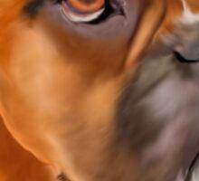 Boxer Pup Art Portrait Sticker