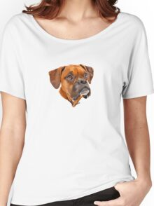 Boxer Pup Art Portrait Women's Relaxed Fit T-Shirt