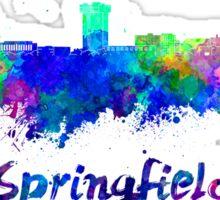 Springfield MO skyline in watercolor Sticker
