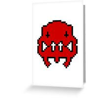Pixel Invader : Red Greeting Card