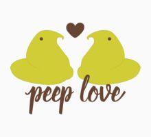 Peep Love - Classic Yellow Kids Tee