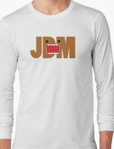 Domo Monster in JDM letters Long Sleeve T-Shirt