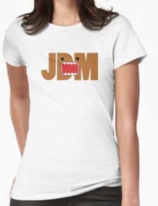 Domo Monster in JDM letters Womens Fitted T-Shirt