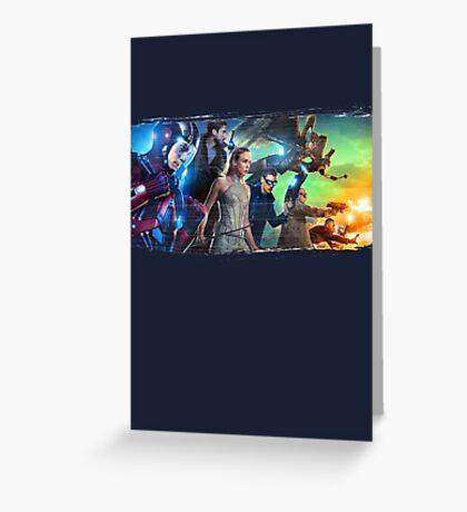 DC Legends of Tomorrow Paint Splash Greeting Card