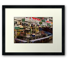 Gwangjang Market Food Booth Framed Print