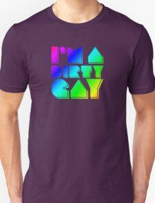 I'm a Dirty Gay (rainbow text) Unisex T-Shirt