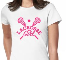 Lacrosse girl Womens Fitted T-Shirt