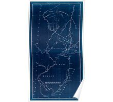 American Revolutionary War Era Maps 1750-1786 621 New York & New Jersey commissioners line from 410 on Hudson's River taken in 1769 Inverted Poster