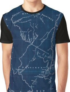 American Revolutionary War Era Maps 1750-1786 621 New York & New Jersey commissioners line from 410 on Hudson's River taken in 1769 Inverted Graphic T-Shirt