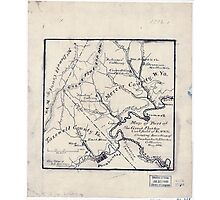 179 Map of part of the great Flat-top coal-field of Va W Va showing location of Pocahontas Bluestone collieries May 1886 Photographic Print