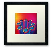 Colorful Pop Art Cylinders Framed Print