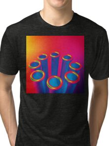 Colorful Pop Art Cylinders Tri-blend T-Shirt