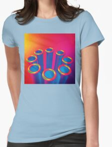 Colorful Pop Art Cylinders Womens Fitted T-Shirt