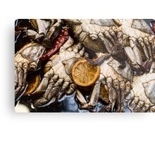 Marinated Fresh Crabs At The Market Metal Print