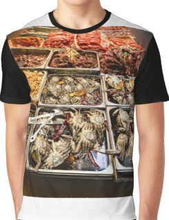 Market Place Crabs and More Graphic T-Shirt