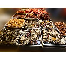 Market Place Crabs and More Photographic Print