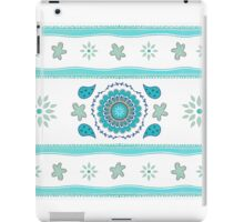 Blue Mandala and Floral Design iPad Case/Skin