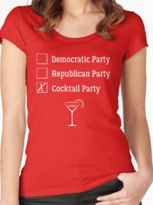 Democratic Republican Cocktail Party T Shirt Women's Fitted Scoop T-Shirt