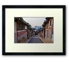 Walking Bukchon Hanok Village Framed Print