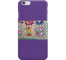 Granny Squares 60's Rainbow Purple Blue Kirsten Designs iPhone Case/Skin