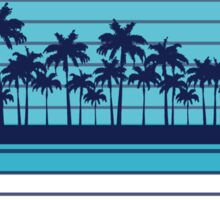 Palm trees blue beach Sticker