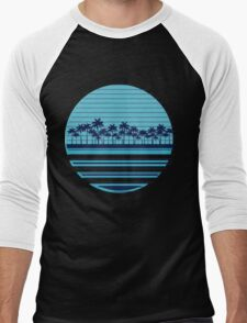Palm trees blue beach Men's Baseball ¾ T-Shirt
