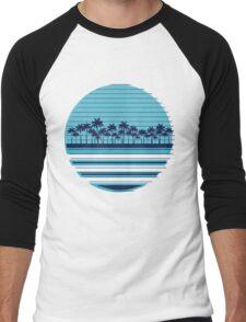 Palm trees blue beach Men's Baseball ¾ T-Shirt