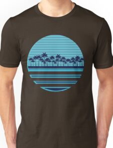 Palm trees blue beach Unisex T-Shirt