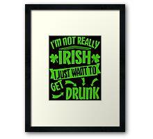 Not Irish Just Drunk St Patrick's Day Framed Print
