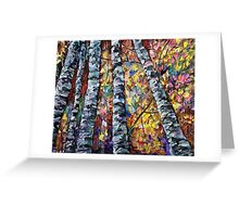 White Trees by Lena Owens/OLena Art Greeting Card