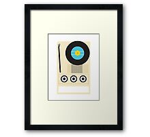 Portable Record Player Framed Print