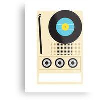 Portable Record Player Metal Print