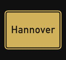 Hannover, Road Sign, Germany Kids Tee