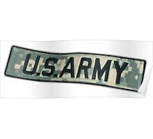 ARMY, US ARMY BADGE, Army Combat Uniform Poster