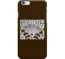 White Lace and Promises Crocheting Fan Kirsten Designs iPhone Case/Skin
