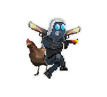 Counter:Strike - Global Offensive Chicken and CT model Photographic Print