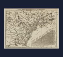 American Revolutionary War Era Maps 1750-1786 028 A general map of North America from the latest observations 1 One Piece - Short Sleeve