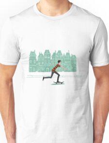 Euro street skater in gouache Unisex T-Shirt
