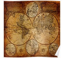 Traveller Gifts travel souvenir vintage world map Poster