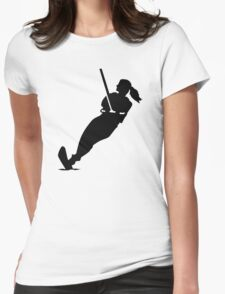 Water skiing woman Womens Fitted T-Shirt