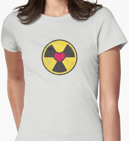 Radioactive Love Womens Fitted T-Shirt