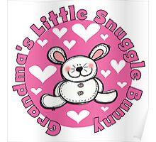 Grandma's Little Snuggle Bunny Poster