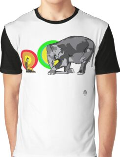 Buddha & The Elephant  Graphic T-Shirt