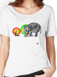 Buddha & The Elephant  Women's Relaxed Fit T-Shirt